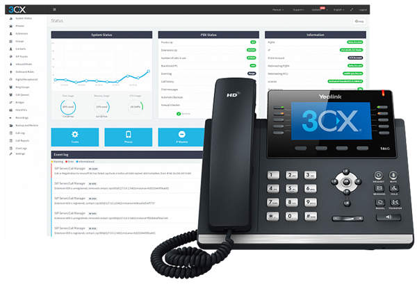 3CX Phone System Standard 8SC, 1 год