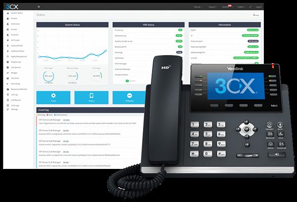 3CX Phone System Standard 1024SC, 1 год