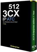 3CX Phone System Enterprise 512SC, 1 год